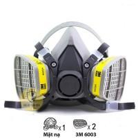 Bộ mặt nạ phòng độc 3M 6200 lọc khí axit, hơi hữu cơ